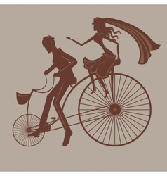 Wedding bicycle vector
