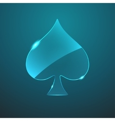 Glass game spade icon vector