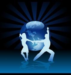 World latino dance vector