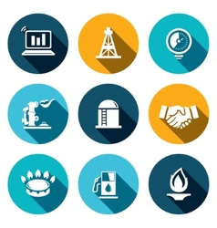 Gas trade icon set vector