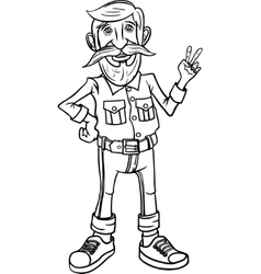 Hipster character design vector