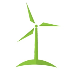 Wind turbine alternative energy ecology concept vector