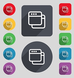 Simple browser window icon sign a set of 12 vector