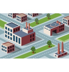 Industrial district vector