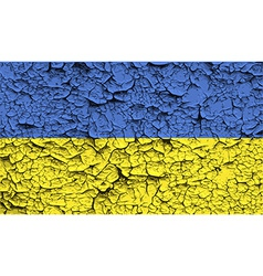 Flag of ukraine with old texture vector