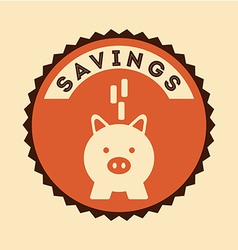 Savings icon vector