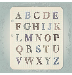 Hand drawn abc letters vector