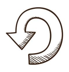 Direction arrow symbol vector