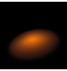 3d halftone circle background vector