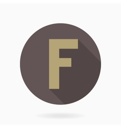 Letter f with flat design vector