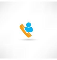 Dispatcher icon vector