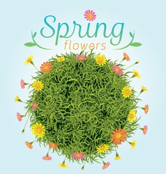 Flowers spring season background vector