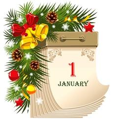 New year tear-off calendar vector