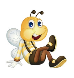 Bee sitting vector