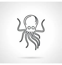 Black line icon for octopus vector