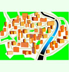 Town plan vector
