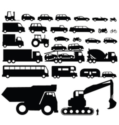Vehicle silhouette vector