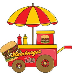 Food cart vector