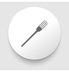Fork icon on white background vector
