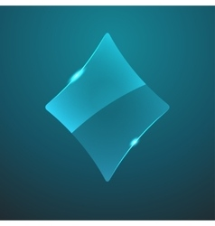 Glass game rhombus icon vector