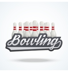 Premium bowling labels vector