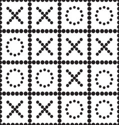 A seamless pattern tic tac toe vector