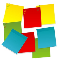 Sheets of paper in different colors vector