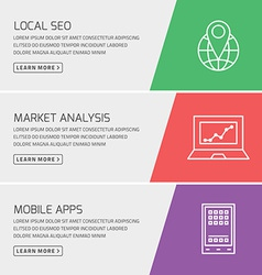 Flat design concept for seo marketing mobile apps vector