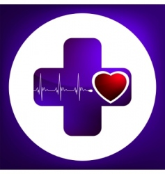 Heart and heartbeat symbol vector