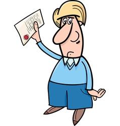 Man with document cartoon vector