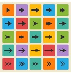 Black set of different arrows vector