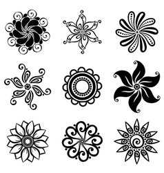 Set deco small circles vector