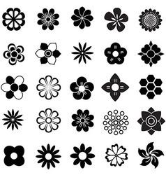Flower set icon vector
