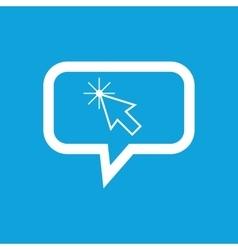 Arrow cursor message icon vector