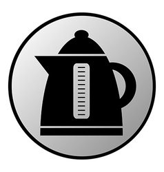 Electric kettle button vector