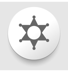 Star sheriff sign icon police button symbol vector