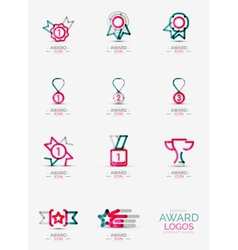 Award icon set logo collection vector
