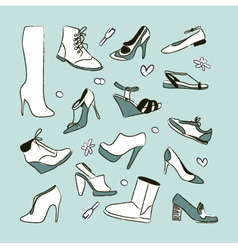 Womens shoes set vector