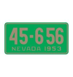 Nevada 1953 license plate vector