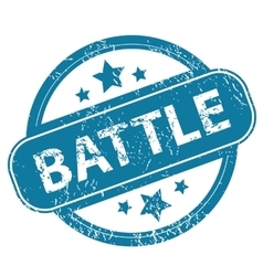 Battle round stamp vector