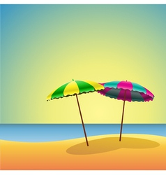 Sandy beaches vector