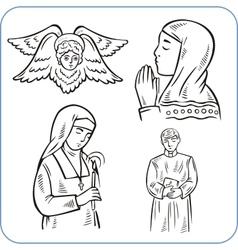 Angels and saints - vector