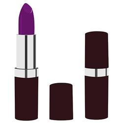 Purple lipstick vector