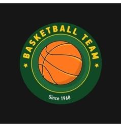 Retro green color basketball badge vector