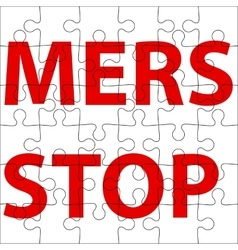 Background puzzle stop mers corona virus sign vector