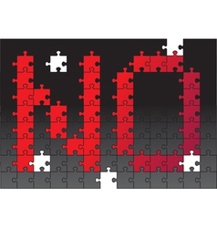 No composed of puzzle vector