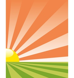 Background with rising sun vector