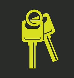 Keys design vector