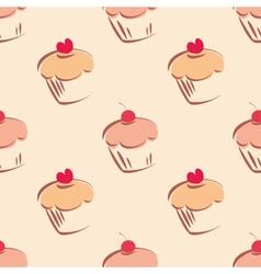 Tile cupcake pattern vector