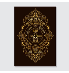 Wedding invitation card - calligraphic design vector